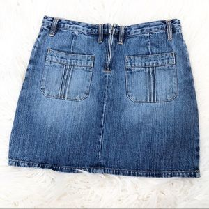 Vintage Y2K Fossil Denim Boho Mini Skirt